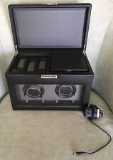 Black Leather Storage Case; Style 456202 Wolf Designs Module 2.7 Watch Winder;