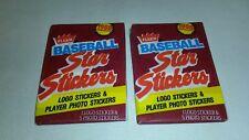 ☆ NEW Vintage MLB1988 Fleer Baseball Star Stickers Wax Packs Sealed FREE SHIPPIN
