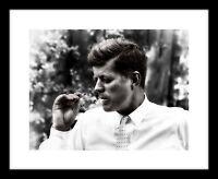 John F Kennedy 8x10 Photo Print Smoking Cigar JFK Picture Cool President