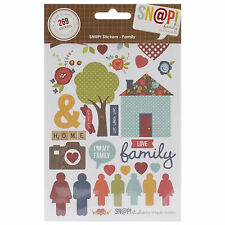 SN@P! FAMILY (269) STICKERS scrapbooking (4) SHEETS ICONS ALPHA ELEMENTS