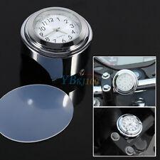 """1Pc Motocicleta Manillar Moto Bike 7/8"""" 1"""" montaje resplandor Reloj Reloj durable"""