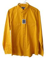 Club Room Mens Size XL Dark Yellow Dual Pocket Long Sleeve Button Down Shirt