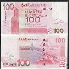 HONG KONG 100 DOLLARS P337 2003 Replacement ZZ BOAT UNC CHINA MONEY BANK NOTE