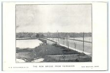 "Early 1900s The ""New"" Bridge from Fairhaven, New Bedford, MA Postcard"