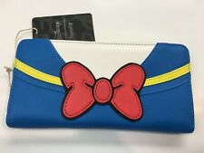 Loungefly Disney Donald Duck Sailor Suit Blue, White, Red, Yellow Zipper Wallet