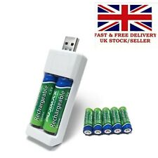 2 slot Fast Intelligent Battery Charger for AA  Rechargeable Batteries