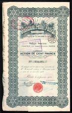 Action. Maison Paul Poiret. 100 Francs au porteur. 1925. Mode