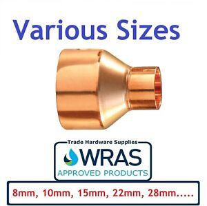 End Feed Pipe Reducer Coupling Copper Reducing Fitting 8mm,10mm,15mm,22mm.....