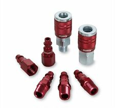 Legacy A73457D Color Connex Type D 7 Piece 1/4 in. Red Coupler and Plug Kit , Ne