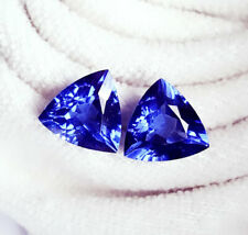 Loose Gemstone 8 to 9 Cts Natural Tanzanite Trillion Pair Certified Gems