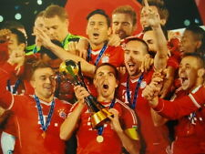 FC Bayern München Lahm  World Champion Echtfoto Championsleague Teamfoto 2013