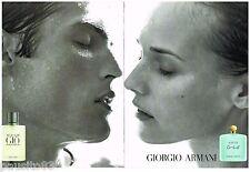 PUBLICITE ADVERTISING 095  1997  GIORGIO ARMANI  parfum (2p) ACQUA DI GIO