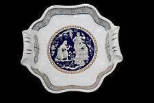 Vtg Decore a la Main T Limogese France Porcelain Candy Dish Plate Roman Figurine