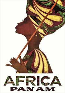 Africa Pan Am | Vintage Travel Poster | A1, A2, A3