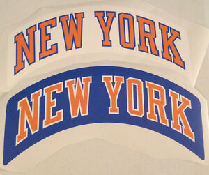 """Knicks FATHEAD Lot of (2) Official Sign NEW YORK Banner Graphics (Both 18"""" x 5"""")"""