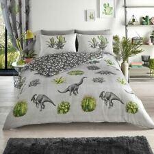 Dinosaure Rêves Set Housse de Couette Simple Vert Cactus Plantes Enfants Adultes