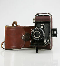 BALDA Juwella Folding 120 Film Camera c.1933-36 in BURGUNDY - SCARCE (KZ29)