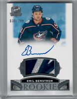 2019-20 UD THE CUP EMIL BEMSTROM ROOKIE PATCH AUTO 3 COLOR LOGO 33 OF 249 COLUMB