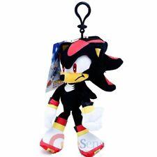 "8"" Sonic The Hedgehog Shadow Soft Plush Doll Key Chain Coin Bag Clip License NWT"