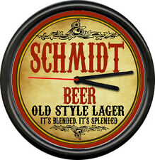 Schmidt Retro Vintage Beer Brewing Tavern Man Cave Retro Bar Sign Wall Clock