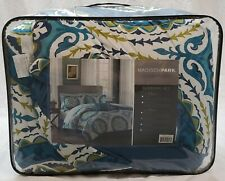 Madison Park Essentials Serenity Bed Comforter Set Queen Size- Blue Medallion