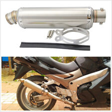 Universal 38-51mm Motorcycle Scooter Modify Exhaust Pipe Muffler Stainless Steel