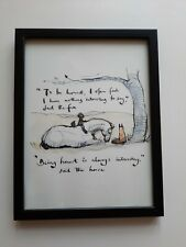 CHARLIE MACKESY FRAMED BOOK EXTRACT.'THE BOY, THE MOLE, THE FOX AND THE HORSE '.