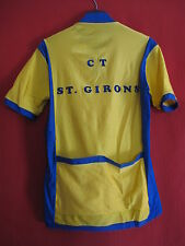 Maillot cycliste Jaune CT ST Girons Vintage 80'S Sport - 4