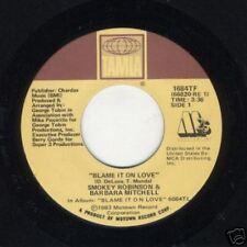 Smokey Robinson & Barbara Mitchell~45~ Blame It On Love