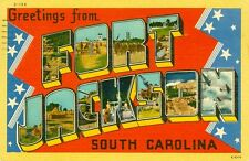 Fort Jackson,Sc. A 1944 Big Letter Greeting from Fort Jackson