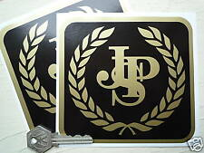 "JOHN PLAYER SPECIAL JPS Garland Square Car STICKERS 5"" Pair F1 Lotus Renault"