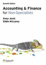 NEW Accounting and Finance for Non-Specialists by Peter Atrill