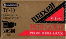 """MAXELL """"CAMCORDER: VHSC TC-30"""" BLANK VIDEO CASSETTE sealed"""
