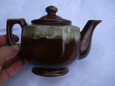 Vintage Brown Mirror Drip TEA POT/CREAMER      Made in USA