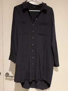 Decjuba Long Black Shirt Size 10