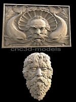 3D STL Models for CNC Router Engraver Carving Artcam Aspire Forest Man Face 242