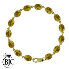 Bracciali di lusso con gemme tennis in oro giallo
