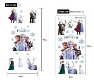 REMOVABLE FROZEN 2 ELSA ANNA OLAF WALL STICKER DECAL BABY KIDS GIRLS ROOM
