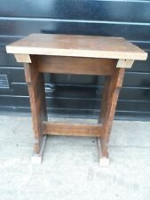 Solid Oak Side Table - H 73cm x W 56cm x D 41cm - Crewe Cheshire