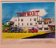 "C.F. Lounsbery Framed Signed ""Last Night at Tony Mart"" 11""x14"" Sommers Point NJ"