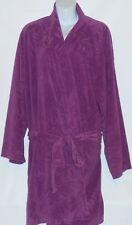 Hanes Woman's Plus Size Short Textured Fleece Wrap Kimono Robe Purple 2X/3X NWT