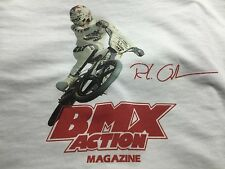Old School Bmx Action T-Shirt Lrg Rl Haro,Master,Sport,Hutch,Dyno Pro,Redline,