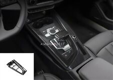 Carbon fiber Interior Gear Shift Box Panel Cover Trim For Audi A4 B9 2017-2019
