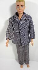 Barbie Ken Clothes Suit #1434 Big Bussiness Plaid Tweed Fashion Suit Vintage