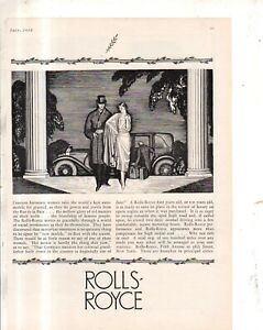 1926 Rolls Royce Limousine Original ad - from Town & Country