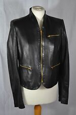 JOSEPH black leather jacket size 10/12