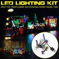 LED Lighting Kit ONLY For LEGO 10254 Christmas Winter Holiday Train Bricks  *