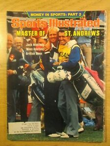 SPORTS ILLUSTRATED JACK NICKLAUS BRITISH OPEN COVER GOLF JUL 24, 1978