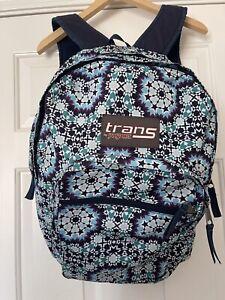 Jansport Student Backpack Blue Medallion Pattern