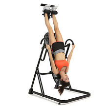 Inversion Table Back Neck Therapy Pain Exercise Chiropractic Reflexology Black